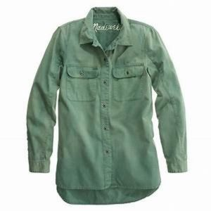 MADEWELL | military style tomboy workshirt Button